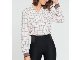 Camisa Feminina Lunender 60100 Branco - Tamanho Médio