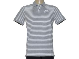 Camisa Masculina Nike 832873-063 m Nsw pq Strp mn Cinza Listrado - Tamanho Médio