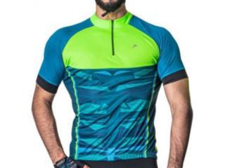 Camisa Masculina Poker 04228 Azul/aqua/verde - Tamanho Médio