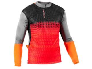 Camisa Masculina Poker 04088 Freeride ii C/ziper Preto/laranja - Tamanho Médio