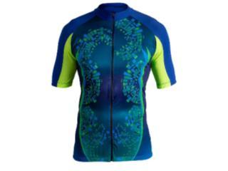 Camisa Masculina Poker 04095 Brigth C/ziper Azul/verde - Tamanho Médio