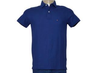 Camisa Masculina Tommy Th0857889250 Azul - Tamanho Médio