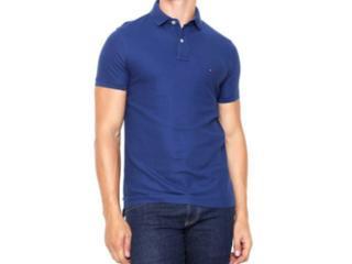 Camisa Masculina Tommy Th0857889250 Marinho - Tamanho Médio