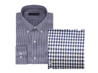 Camisa Masculina Tommy Th17fl737 Th461 Azul/branco - Tamanho Médio