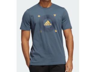 Camiseta Masculina Adidas Ge4512 Bos Icons m  Petróleo - Tamanho Médio