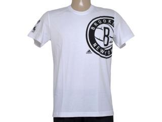 Camiseta Masculina Adidas Aa7993 Clu pt Nba Branco - Tamanho Médio