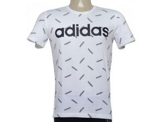 Camiseta Masculina Adidas Dw7866 Aop Tee Branco/preto - Tamanho Médio