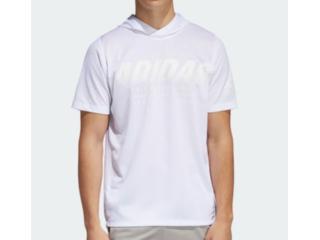 Camiseta Masculina Adidas Dy0742 Daily Hoody Tee Branco - Tamanho Médio