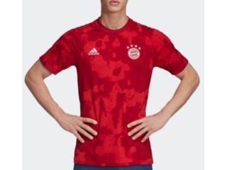 Camiseta Masculina Adidas Dx9676 Pre Jogo Bayern i Vermelho - Tamanho Médio
