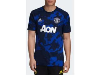 Camiseta Masculina Adidas Dx9089 Pre Jogo Man United i Royal/marinho - Tamanho Médio