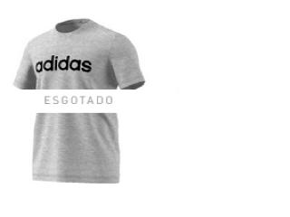 Camiseta Masculina Adidas Ei4580 m Grfx Lnr t 3 Cinza - Tamanho Médio