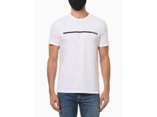 Camiseta Masculina Calvin Klein Ckjm102 Branco - Tamanho Médio