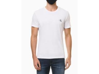 Camiseta Masculina Calvin Klein Ckjm103 Branco - Tamanho Médio