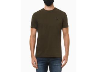 Camiseta Masculina Calvin Klein Ckjm103 Militar - Tamanho Médio