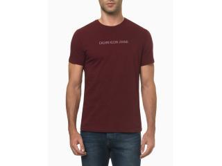 Camiseta Masculina Calvin Klein Ckjm106 Bordo - Tamanho Médio