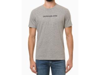 Camiseta Masculina Calvin Klein Ckjm106 Mescla - Tamanho Médio