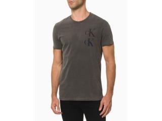 Camiseta Masculina Calvin Klein Cm1oc01i4068 Chumbo - Tamanho Médio