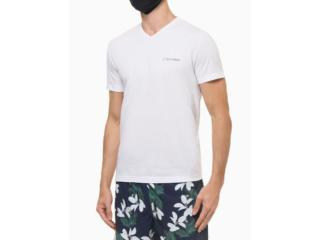 Camiseta Masculina Calvin Klein Cm1os01i3020 Branco - Tamanho Médio