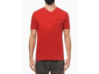 Camiseta Masculina Calvin Klein Cm1os01i3020 Vermelho - Tamanho Médio