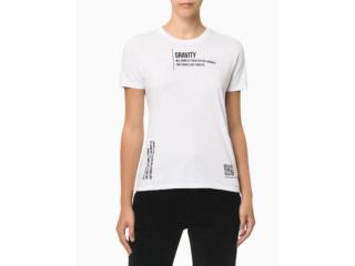 Camiseta Feminina Calvin Klein Cf1oc01bc766 Branco - Tamanho Médio
