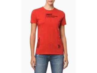 Camiseta Feminina Calvin Klein Cf1oc01bc766 Vermelho Escuro - Tamanho Médio