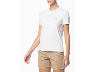 Camiseta Feminina Calvin Klein Ckjf100 Branco - Tamanho Médio