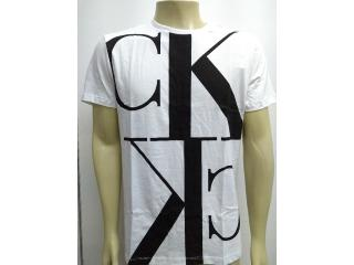 Camiseta Masculina Calvin Klein Cm0oc01tc855 Branco - Tamanho Médio