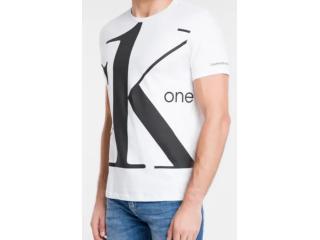 Camiseta Masculina Calvin Klein Cm0ok01tc018 Branco - Tamanho Médio