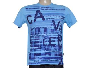 Camiseta Masculina Cavalera Clothing 01.01.7739 Celeste - Tamanho Médio