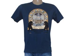 Camiseta Masculina Cavalera Clothing 01.01.8186 Azul Escuro - Tamanho Médio