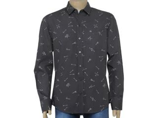 Camiseta Masculina Cavalera Clothing 02.01.1278 Chumbo - Tamanho Médio
