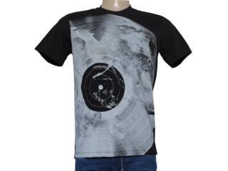 Camiseta Masculina Cavalera Clothing       01.01.8413 Lua Preto - Tamanho Médio