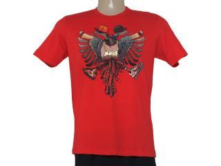 Camiseta Masculina Cavalera Clothing 01.01.8409 Aguia Vermelho - Tamanho Médio