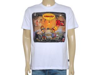 Camiseta Masculina Cavalera Clothing 01.01.8540 Branco - Tamanho Médio