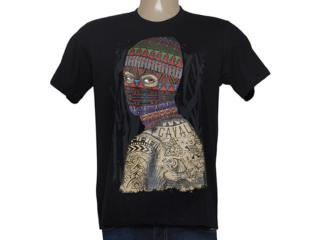 Camiseta Masculina Cavalera Clothing 01.01.8627 Preto - Tamanho Médio