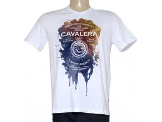 Camiseta Masculina Cavalera Clothing 01.01.8748 Branco - Tamanho Médio