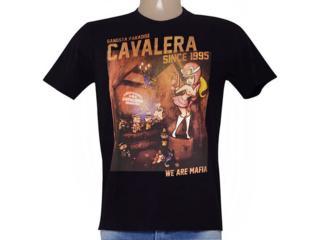 Camiseta Masculina Cavalera Clothing 01.01.8902 Preto - Tamanho Médio
