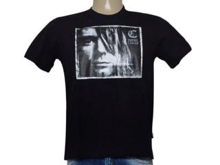 Camiseta Masculina Cavalera Clothing 01.01.8917 Preto - Tamanho Médio