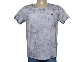 Camiseta Masculina Cavalera Clothing 01.01.9941 Branco Mesclado Preto - Tamanho Médio