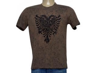 Camiseta Masculina Cavalera Clothing 01.20.0261 Marrom Estonado - Tamanho Médio