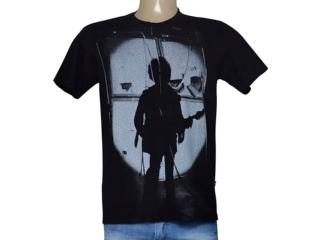 Camiseta Masculina Cavalera Clothing 01.01.9272 Preto - Tamanho Médio