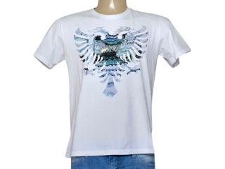 Camiseta Masculina Cavalera Clothing 01.01.9225 Branco Estampado - Tamanho Médio