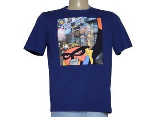 Camiseta Masculina Cavalera Clothing 01.01.9341 Marinho Estampado - Tamanho Médio