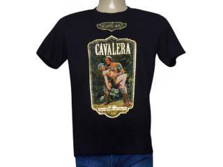 Masculina Camiseta Cavalera Clothing 01.01.9731 Preto - Tamanho Médio