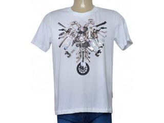 Masculina Camiseta Cavalera Clothing 01.01.9718 Branco - Tamanho Médio