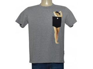 Masculina Camiseta Cavalera Clothing 01.01.9778 Mescla - Tamanho Médio