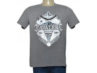 Masculina Camiseta Cavalera Clothing 01.01.9732 Mescla - Tamanho Médio