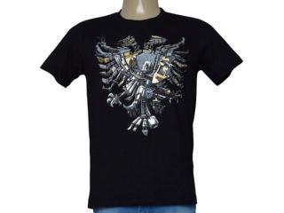 Camiseta Masculina Cavalera Clothing 01.01.9978 Preto - Tamanho Médio