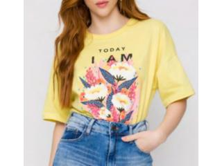 Camiseta Feminina Coca-cola Clothing 343203335 53686 Amarelo - Tamanho Médio