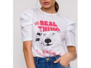 Camiseta Feminina Coca-cola Clothing 343203370 001 Branco - Tamanho Médio